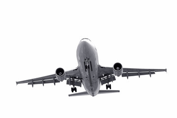 Wall Mural - isolated jet aircraft landing