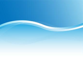 Hintergrund Blau mit Illustration