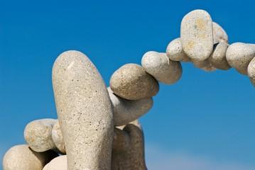 Stones in air