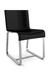 black chair isolated on white background