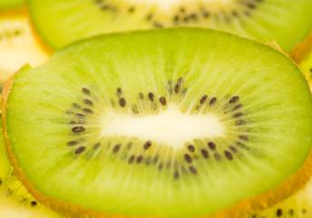 kiwi slices, background, macro