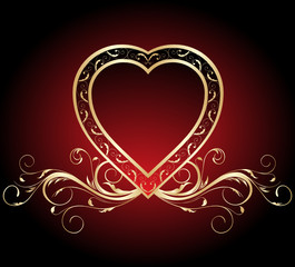 vintage Valentine's heart