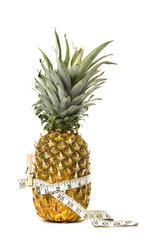 Pineapple and measured tape