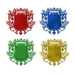 colorful heradic shield set