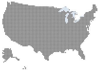 Fotobehang Pixel Mosaic of USA