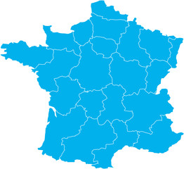 There is a map of France country