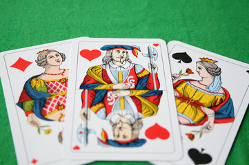 Spielkarten Beziehung