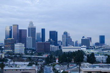 Fotomurales - Los Angeles Skyline at Dusk