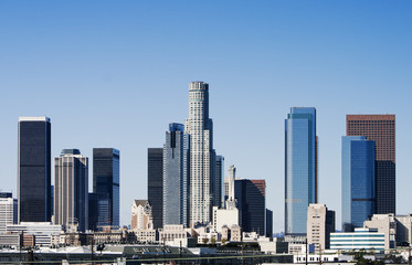 Wall Mural - Los Angeles Skyline in Early Morning