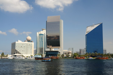 Modern Buildings at Dubai Creek