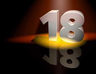 18 birthday monument