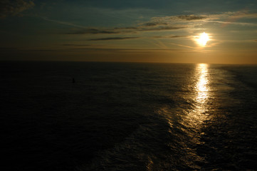 Sundown on the English Channel