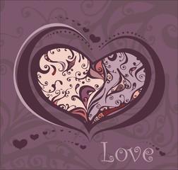 Illustration of a decorative heart