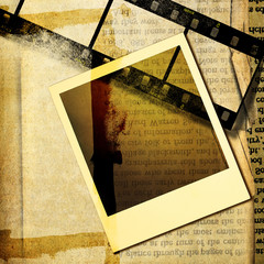vintage papers with filmstrips