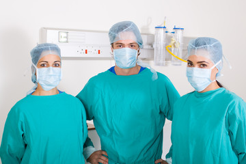 surgeons in operation room