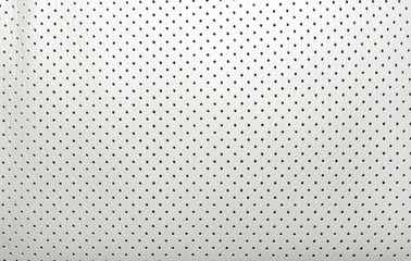 High quality perforated beige leather. Interior of modern japane