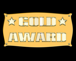 Gold award sign