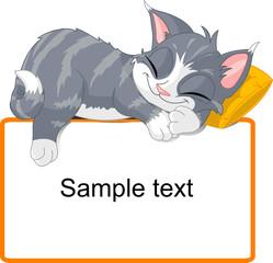 Canvas Prints Fairytale World Sleeping cat