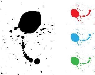 ink splash in various colors