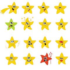 cartoon  icon stars