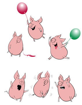cartoon pigs collection