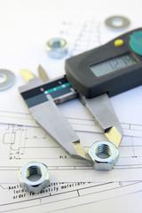 Caliper and nut over design