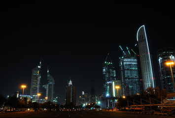 Buildings at Sheikh Zayed Road in Dubai