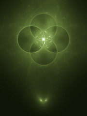 green abstract bg