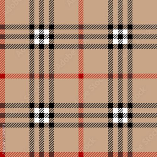Clic Scottish Tartan Fabric Seamless Square Pattern