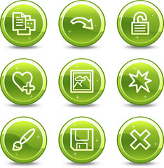 Image viewer web icons,  glossy circle buttons series set 2