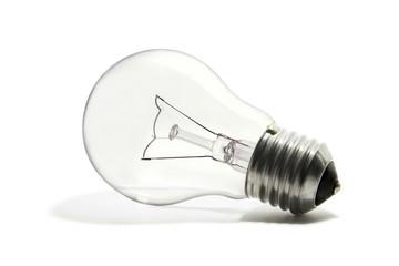 lampadina su sfondo bianco