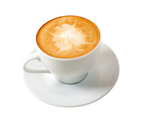 cappuccino.Cup of coffee