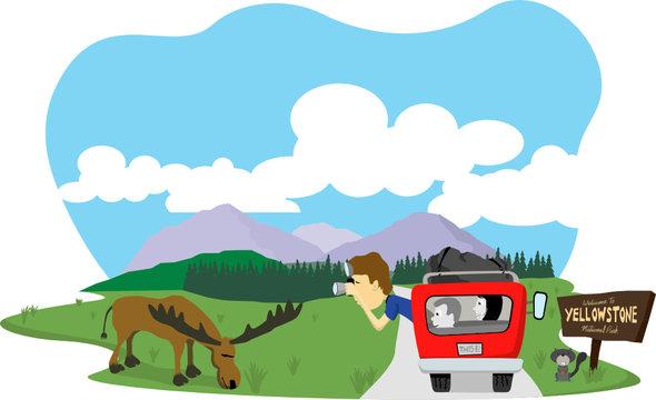 Snapshot at Yellowstone