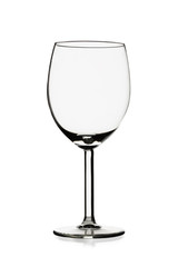 transparent empty wine glass
