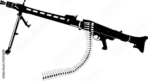 mg 42 maschinengewehr vektor stockfotos und lizenzfreie vektoren auf bild. Black Bedroom Furniture Sets. Home Design Ideas