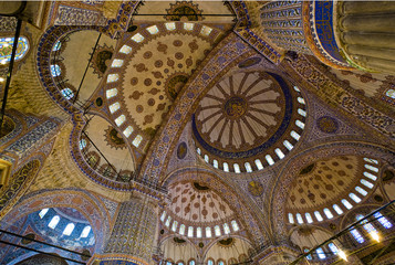 Blue Mosque Interior Dome in Istanbul