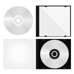 dvd disc and box vector