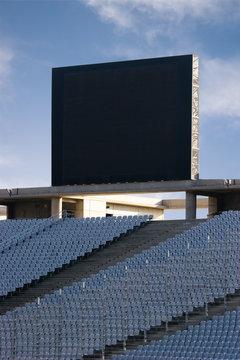 Scoreboard at an Empty Stadium