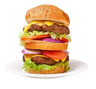 super size double cheeseburger