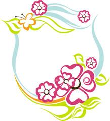 illustration with floral frame
