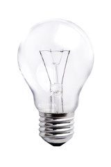 Lightbulb on White