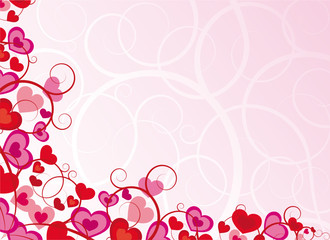 Pink background with heart