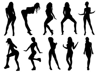 girls silhouette (pose) 1