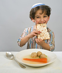 boy matzo ball soup