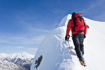 Foto op Aluminium Alpinisme Alpinist