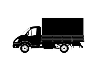 lkw truck with tent box