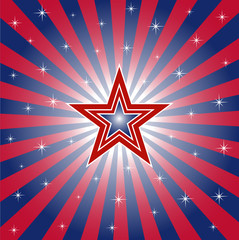 Patriotic Star Burst Background
