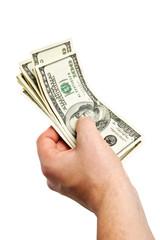 money in the hand