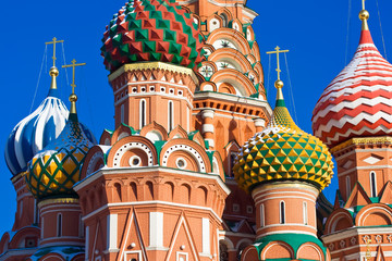 Wall Mural - Saint Basil's Cathedral domes