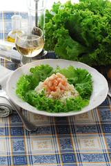 Insalata di riso ai gamberetti - Antipasti di pesce lombardia